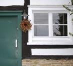 Herbstkranz an der Tür