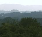 Blick vom Hof ins umliegende bergisch-märkische Hügelland